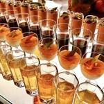ソマーハウス - グラスデザート@ショコラカシス、ジュレブドウ、テロッティー(柿とほうじ茶)、ジュレジャスミン
