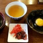 GYOOOZA!! - スープ、卵、漬物、お茶