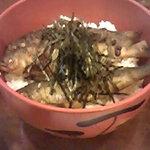 鳥居茶屋 - (上)を注文するとメインの茶漬けに鮎は3匹。