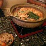 どりんくばぁー維新力の店 - 維新力特製みそ炊きちゃんこ鍋!具だくさんで本当に美味しい!