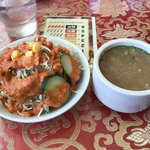 Mt.エベレスト - 野菜サラダとスープ