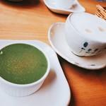 チーズケーキ工房・カフェ 風花 - 選べるランチ(1500円) 宇治抹茶ティラミスとカプチーノ