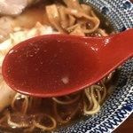 弘富 - 【2018.9.3】動物系のベースに煮干し。醤油ダレを濃いめに効かせたスープ。