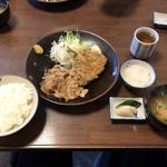 とき和 - 料理写真:しょうが焼きとアジフライ定食950円です。