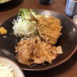 とき和 - しょうが焼きとアジフライはどちらも優秀な飯友でした。