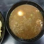無鉄砲つけ麺無極 - つけ汁かなり濃厚なスープです