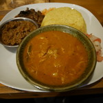 カレーや デッカオ - 本日の全種類カレー、マトンキーマ