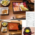 魚どん 然 - 北海道宝石丼2,800円