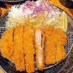 三是食堂 かつどころ - リブロースカツ(180g)¥880