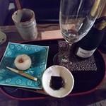 菓舗 カズナカシマ - スパークリングワインに合わせた上生菓子セット