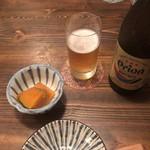 彩菜BAR Q's - 料理写真:オリオンビールとお通し