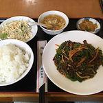 92807800 - 牛肉とピーマン炒め定食♪