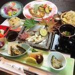 つるおか旬暦 彩鶴 - 創作和洋コース 一例