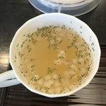 盆栽レストラン大宮 - スープ。 美味し。