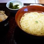 澄まし処 お料理 ふくぼく - Aセット  名物鴨だしご飯セット 澄まし麺