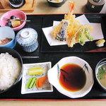 ぱぁくえりあ やまもと - 天ぷら定食