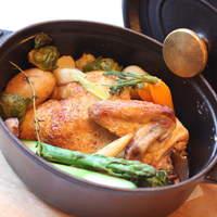 ル・ビストロ・ルバーブ - 主菜   ストーブを使った フランス産ヒナ鶏のロースト