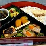 カフェ さくら坂 - 犬山鵜飼弁当の惣菜達と生姜柚子ちらし