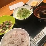 Suppondeni - 炙りイナダ酢〆+牛肉とろろ