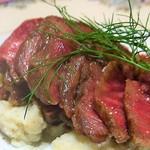 東京料理 ゑの木 - 秋川牛 本物の和牛ステーキ