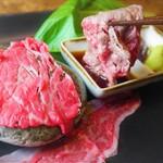 東京料理 ゑの木 - 秋川牛 石焼刺身