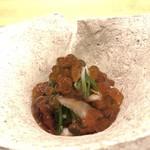 粋・丸新 - 料理写真:キノコと青菜の三杯酢     イクラたっぷり♡