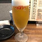 日本酒と串カツ・酒粕おでん 一穂 希SAKU - 生ビール