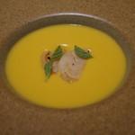 バンケッティ - スープ バターナッツのポタージュ、帆立のソテー