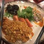 川国風味小林 - 前菜の盛り合わせのピータンに牛の塩漬けに名古屋コーチンゴマだれ