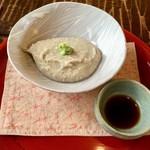 竹やぶ - 粗挽きそばがき (コーヒーミルで挽いているそうです)