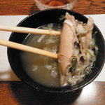 竹寿し - まさかのサムゲタンスープ(笑)