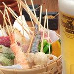 串むすび・琢 - 料理長が吟味した旬の食材