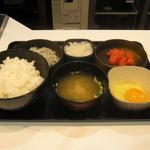 吉野家 - 【朝食】「しらす明太子定食」です。