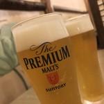 草家 - 草家(チョガ)(岡山県岡山市北区清輝橋)生ビール(中)