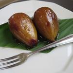 古民家レストラン 棚田カフェ ごんべい - いちじくのワインコンポート