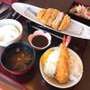 とんかつ 海老かつ幸せや - 料理写真:海老フライ+ひれ ランチ