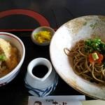 京そば処 志乃崎 - ミニとり天丼とぶっかけ蕎麦