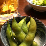 赤焼瓶 - お通しの枝豆