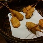 串亭 - ・イカの大葉巻き・牛タンメンチカツ