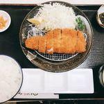 92845675 - 黒豚ロースカツ定食
