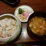 串亭 - 名物ちりめんご飯と本日の椀物