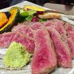 笑酒 - 松尾牛のステーキ 1,680円