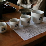 せきのいち - 2009/5 日本酒の見比べ + 仕込み水