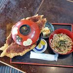 こだま食堂 - こだまわらじかつ丼 with冷うどん