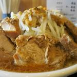 らぁ麺 しん - 小ラーメン・ヤサイ増し・ニンニク普通・アブラ増し・豚ダブル