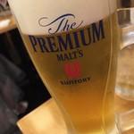大衆すし酒場 カドハチ - 生ビール