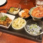 南方中華料理 南三 - ボタンエビ紹興酒漬、枝豆酒粕漬け、蒸し鶏、冬虫夏草、