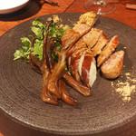 南方中華料理 南三 - 羊ウイグルソーセージ、豚大腸パリパリ揚げ、鴨舌のスモーク