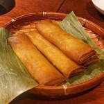 南方中華料理 南三 - ラム肉とかぼちゃの春巻き