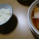 食堂 はせ川 - 小ライス¥30